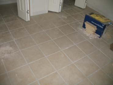 Ceramic Tile Installation - Before