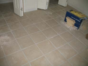 Ceramic Tile Installation - Before
