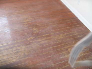 Wood Floor Repair - Before